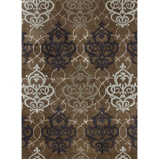 Hand-tufted Lionel Brown Wool Rug