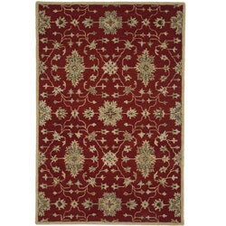 Hand-tufted Wilson Red/ Multi Wool Rug