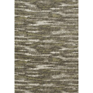 "Lavern Charcoal/Green Abstract Rug (7'7"" x 10'5"")"