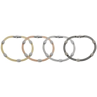 Tressa Plated Sterling Silver Magnet Clasp Bracelet