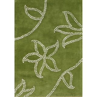 Alliyah Rugs Green New Zealand Wool Rug (9x12)