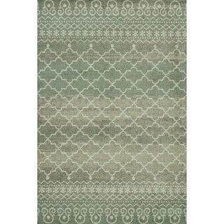 Lavern Sea/ Taupe Rug (5'2 x 7'7)