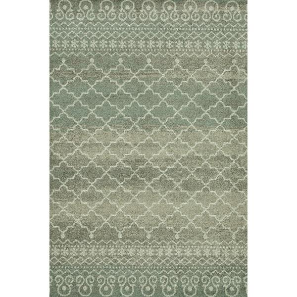 Lavern Sea/ Taupe Rug (5'2 x 7'7)