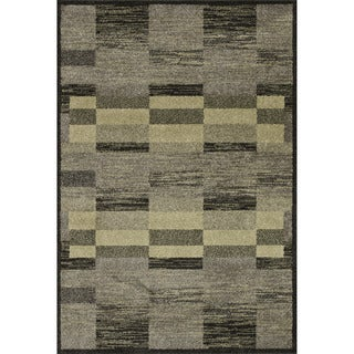 Lavern Charcoal/ Green Rug (7'7 x 10'5)