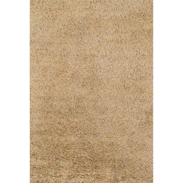 Hand-Woven Nolan Beige/ Light Blue Wool Rug