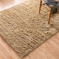 Hand-Woven Nolan Beige/ Light Blue Wool Rug
