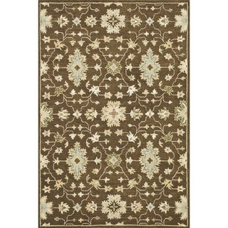 Hand-tufted Wilson Brown Wool Rug