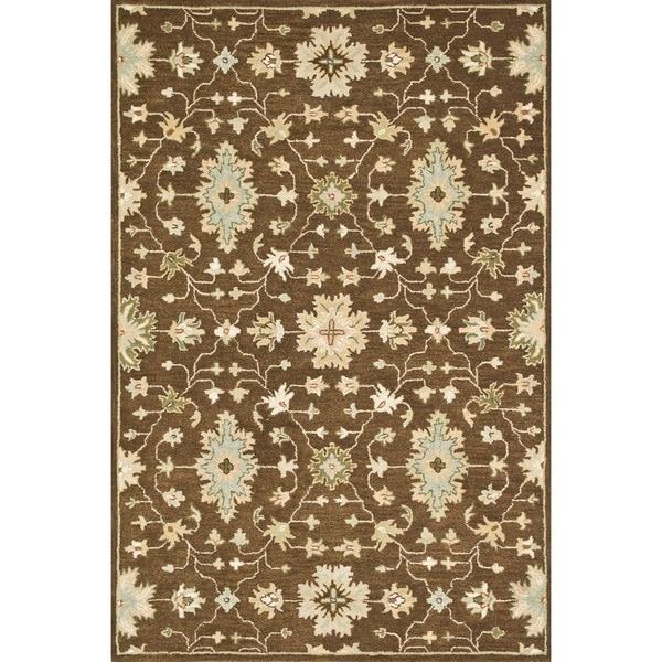 Hand-tufted Wilson Brown Wool Rug
