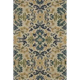 Hand-tufted Wilson Blue/ Teal Wool Rug
