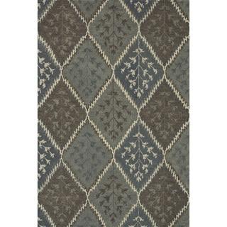 Hand-tufted Wilson Blue/ Multi Wool Rug