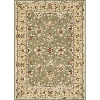 Hand-tufted Wilson Sage/ Cream Wool Rug
