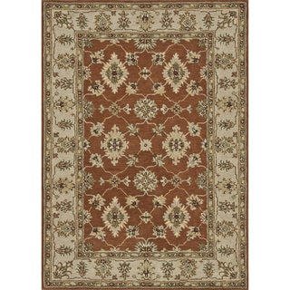 Hand-tufted Wilson Rust/ Beige Wool Rug
