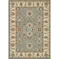 Hand-tufted Wilson Slate/ Cream Wool Rug