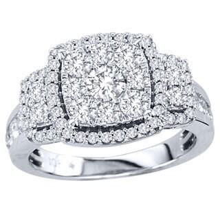 De Couer 10k White Gold 1 1/2ct TDW Multi Stone Diamond Ring (H-I, I2)