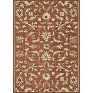 Hand-tufted Wilson Rust Wool Rug