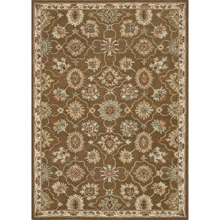 Hand-tufted Wilson Brown/ Ivory Wool Rug