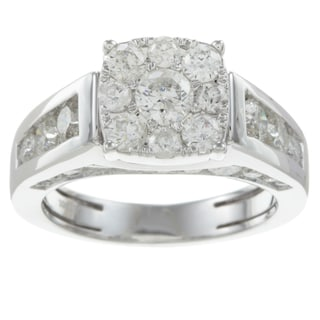  10k White Gold 2ct TDW Imperial Diamond Engagement Ring (H-I, I1-I2)