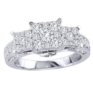 De Couer  10k White Gold 1 1/2ct TDW Diamond Engagement Ring (H-I, I2)