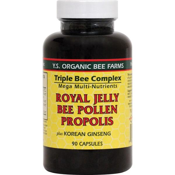 YS Organic Bee Farms Triple Bee Complex (90 Capsules)