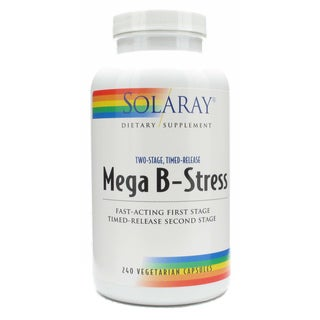Solaray Mega B-Stress Two-Stage Supplement (240 Capsules)