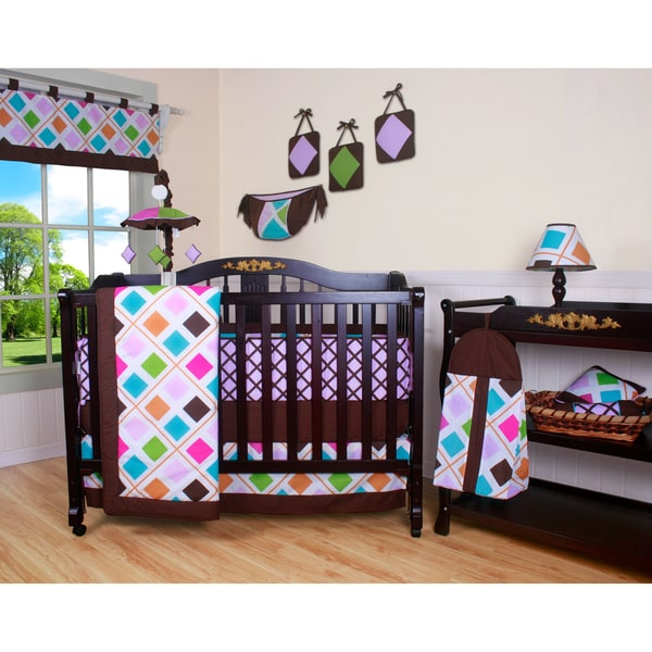 Boutique Diamond 13-piece Crib Bedding Set