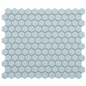 SomerTile 10.25x11.75-in Victorian Hex Blue Porcelain Mosaic Tiles (Pack of 10)
