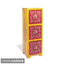Mango Wood Almirah Three Drawer Chest (India)