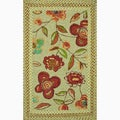 Hand-hooked Frontier Sage Rug (2&#39;3 x 3&#39;9)