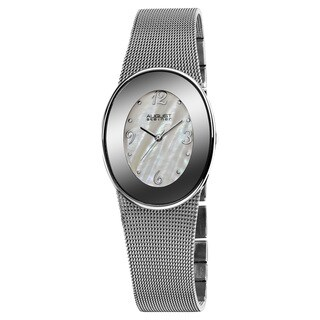 August Steiner Women's Quartz Oval Mesh Bracelet Watch
