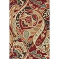 Hand-hooked Savannah Red Rug (7&#39;6 x 9&#39;6)