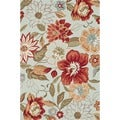 Hand-hooked Savannah Mist Rug (5&#39;0 x 7&#39;6)