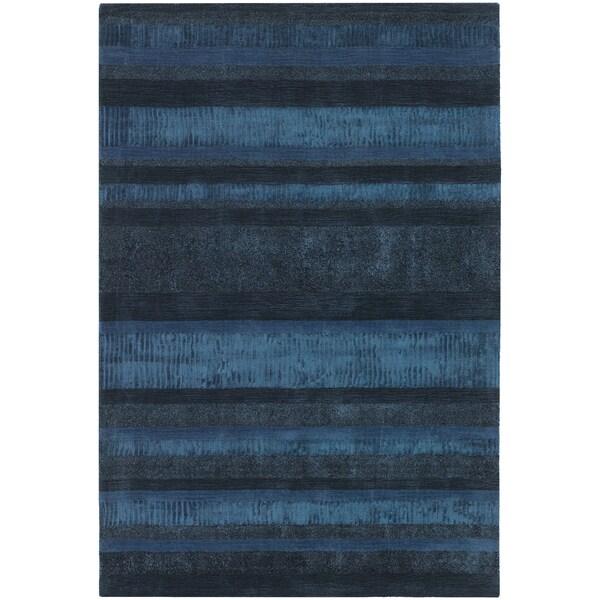 Hand-woven Mandara Stripe Pattern Rug