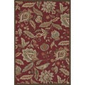 Hand-hooked Savannah Red Rug (7'6 x 9'6)