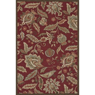 Hand-hooked Savannah Red Rug (5'0 x 7'6)