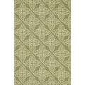 Hand-hooked Savannah Green Area Rug (7'6 x 9'6)