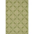 Hand-hooked Savannah Green Area Rug (5'0 x 7'6)