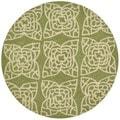 Hand-hooked Savannah Green Rug (3' Round)