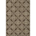 Hand-hooked Savannah Transitional Brown Rug (7'6 x 9'6)