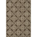 "Hand-Hooked Savannah Transitional Geometric Brown Rug (5' x 7'6"")"