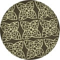 Floral and Paisley Hand-hooked Savannah Brown Rug (3' Round)