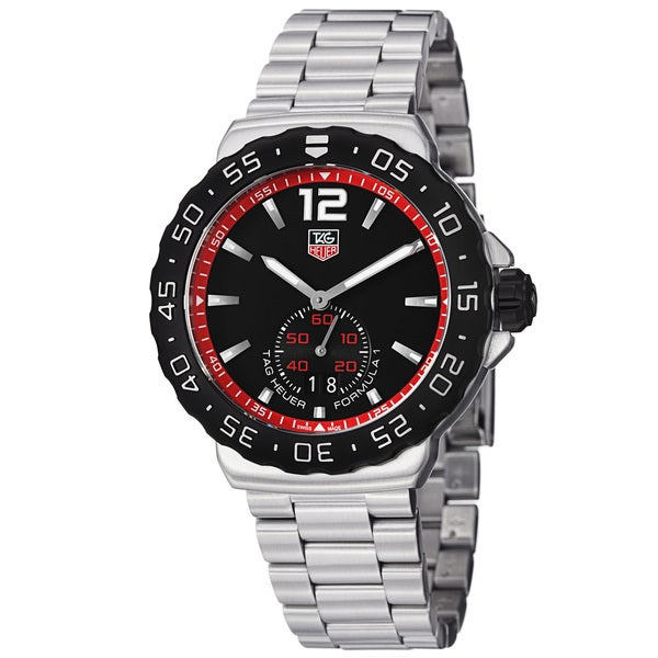 Tag Heuer Men's WAU1114.BA0858 'Formula 1' Black Dial Stainless Steel Quartz Watch