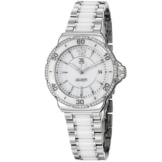 Tag Heuer Women's 'Formula 1' White Dial Stainless Steel Ceramic Watch