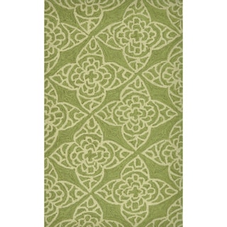 Hand-Hooked Savannah Green Indoor Rug (2'3 x 3'9)