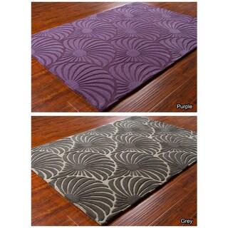 3d Shaggy 800 Abstract Wave Purple Area Rug 5 X 7