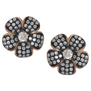 Tressa Rose Gold Sterling Silver Cubic Zirconia Earrings