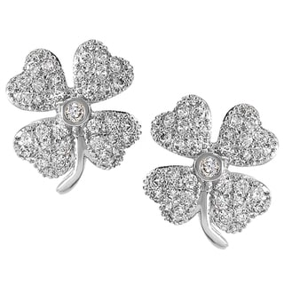 Tressa Collection Sterling Silver Cubic Zirconia Earrings