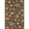 Hand-hooked Savannah Brown Rug (5'0 x 7'6)