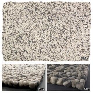 Hand-woven Mandara Thick Wool Balls Rug