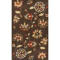 Hand-hooked Savannah Brown Rug (2&#39;3 x 3&#39;9)