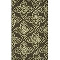 "Hand-Hooked Savannah Brown-and-Ivory Rug (2'3"" x 3'9"")"